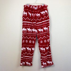 Lazy One Red and White Moose Print Pajama Pants